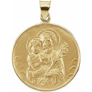 18K Yellow 25 mm St. Joseph Medal