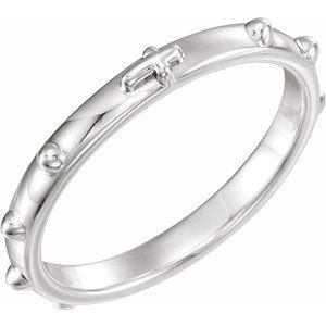 Sterling Silver Rosary Ring Size 10