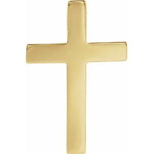 14K Yellow 22x14 mm Cross Lapel Pin