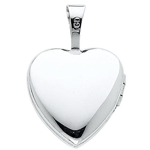 14KW HEART LOCKET PENDANT