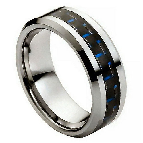 Blue Carbon Fiber Inlay - 8mm