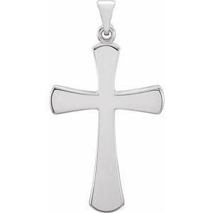 Sterling Silver 28.5x19 mm Cross Pendant