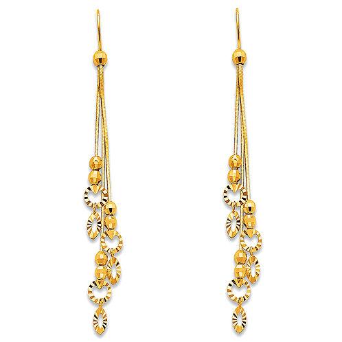 14K Yellow Hanging Earrings