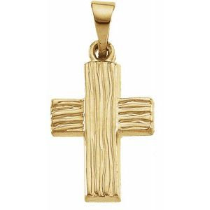 14K Yellow 13x10 mm The Rugged Cross® Pendant