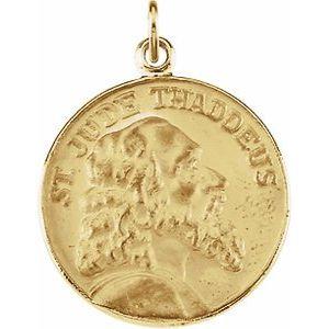 14K Yellow 18 mm St. Jude Thaddeus Medal