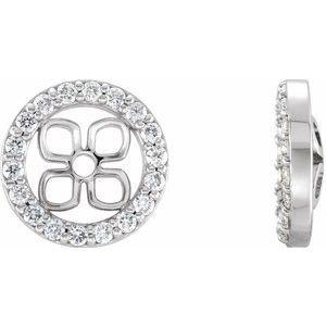 14K White 6 mm ID 1/6 CTW Diamond Earring Jackets