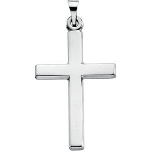 14K White Cross Necklace