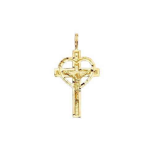 14KY Crucifix Cross Pendant