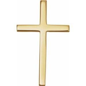 14K Yellow Cross Pendant