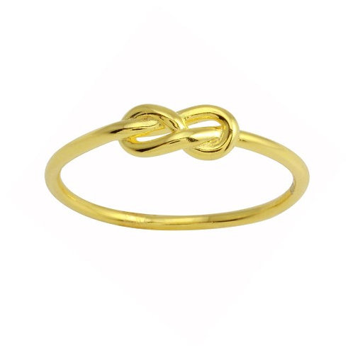 925 Gold Plated Knot Ring