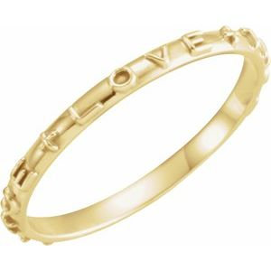 10K Yellow True Love Chastity Ring Size 8