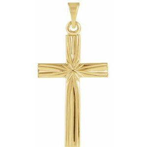 14K Yellow 22x14 mm Cross Pendant