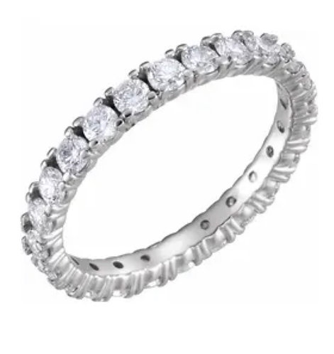 14k white 1 3/8 CTW Diamonds Eternity Bands