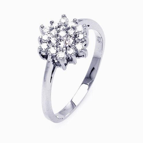 Cluster Sterling Silver Flower Ring
