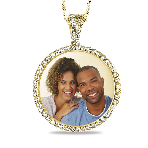 ICED OUT PHOTO PENDANT