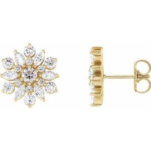14K Yellow 1 CTW Diamond Earrings