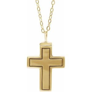 "10K Yellow Cross Ash Holder 18"" Necklace"