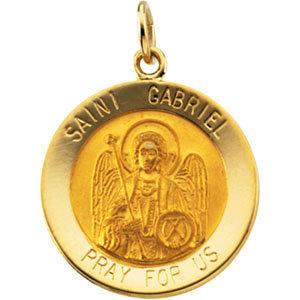 14K Yellow 18.25 mm St. Gabriel Medal