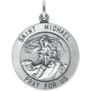 Sterling Silver 25 mm St. Michael Medal