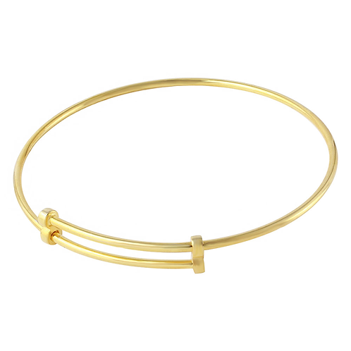 925 Rose Gold Plated Adjustable Bangle Bracelet