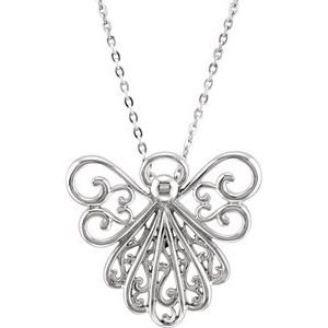 """Sterling Silver """"An Angel in You"""" 18"""" Necklace"""