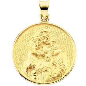 18K Yellow 24.5 mm St. Anthony of Padua Medal