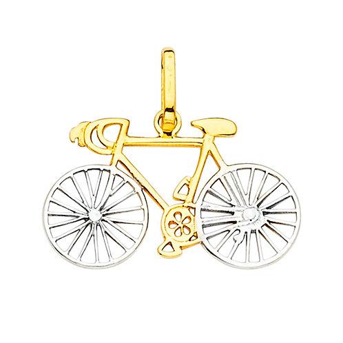 14K 2Tone Bicycle Pendant