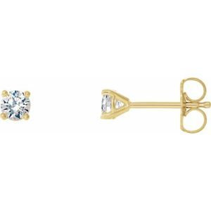 14K Yellow 1/4 CTW Diamond 4-Prong Cocktail-Style Earrings