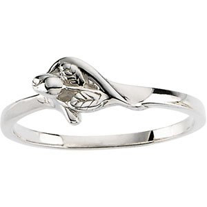 Sterling Silver The Unblossomed Rose® Ring Size 7