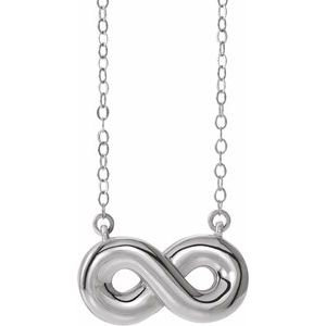 "Sterling Silver Infinity-Inspired Ash Holder 18"" Necklace"