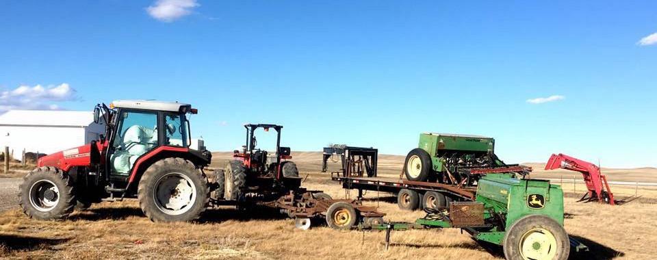 Drill seeding equipment.