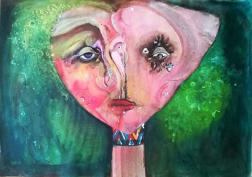 The sad girl.