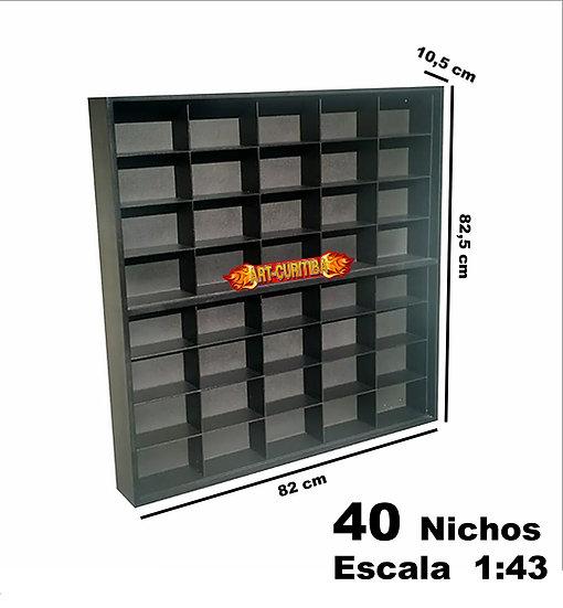 Estante Expositor 40 Nichos ( Chevrolet ) ( Preta ) Coleção