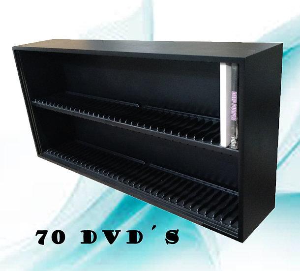 Estante 70 Lugares P/ Dvd - Coleção - Expositor ( Preta )