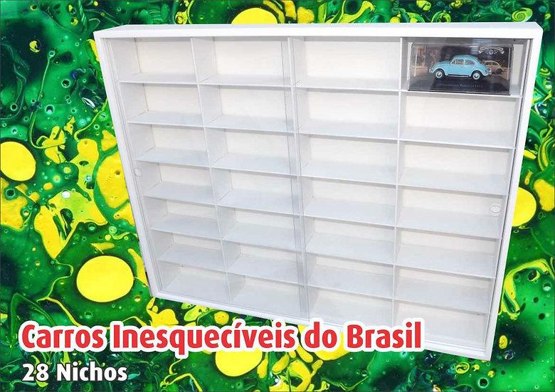 Estante para 28 Carros Inesquecíveis Do Brasil-1:43 Planeta Deagostini