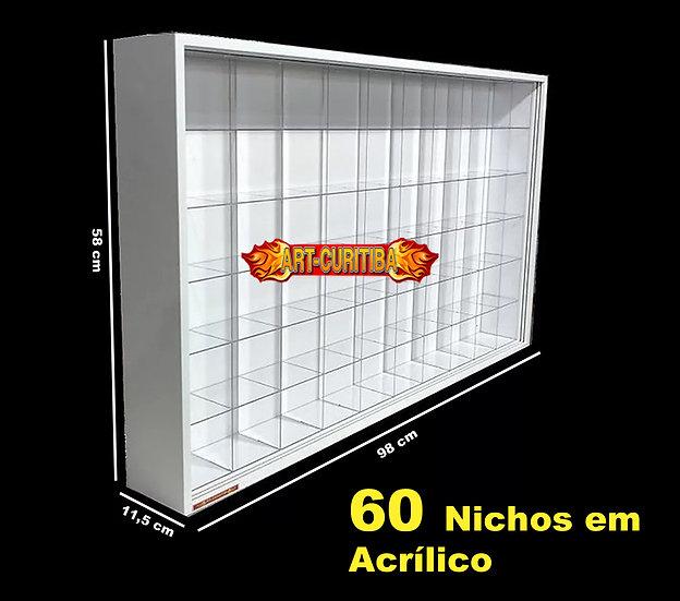 Estante Expositor 60 Capacetes Moto Gp Nichos Acrilicos