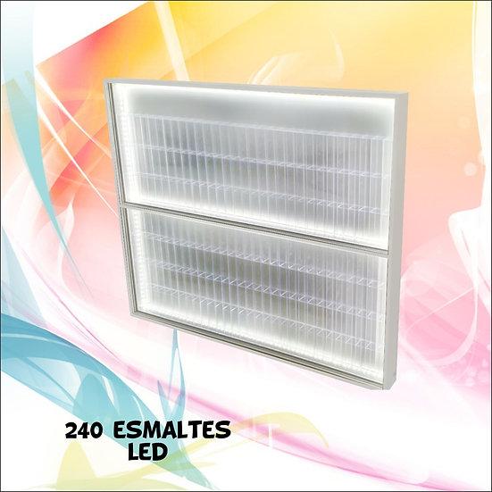 Estante Expositor ( 240 ) Esmaltes + Led + Nichos Acrilicos