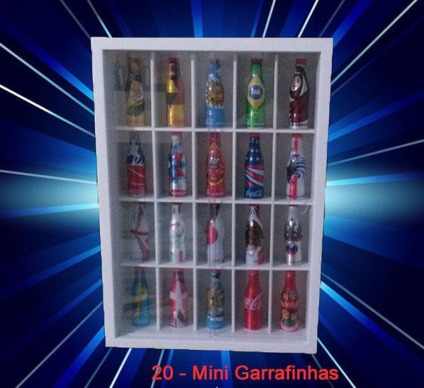 Estante P/ Coleção ( 20 - Mini Garrafinhas ) Coca Cola