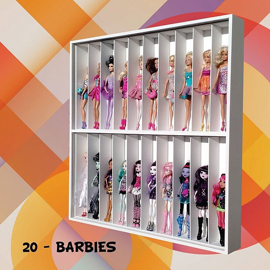 Estante Expositor (20 Lugares) Barbie Monster High - Frozen