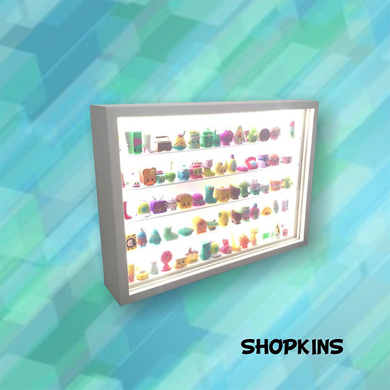 Estante Expositor ( 75 ) Shopkins (led) Bonecos- Figuras Dtc