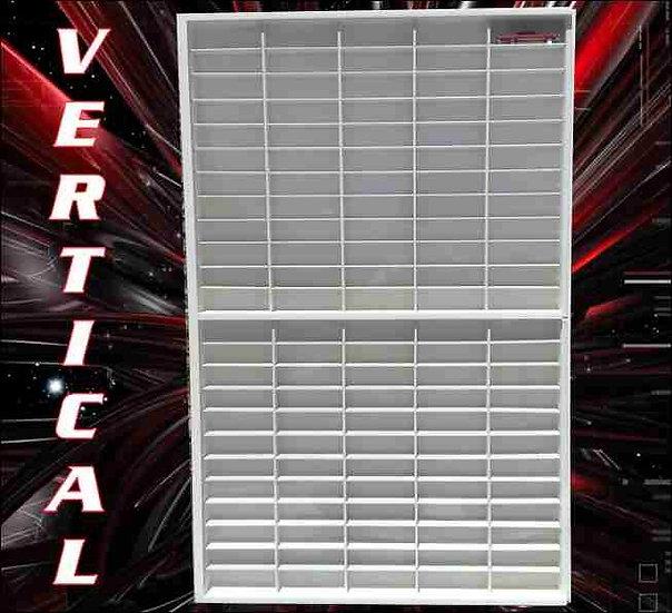 Estante Expositor Vertical 120 nichos 1:64 Coleção Miniaturas Hot