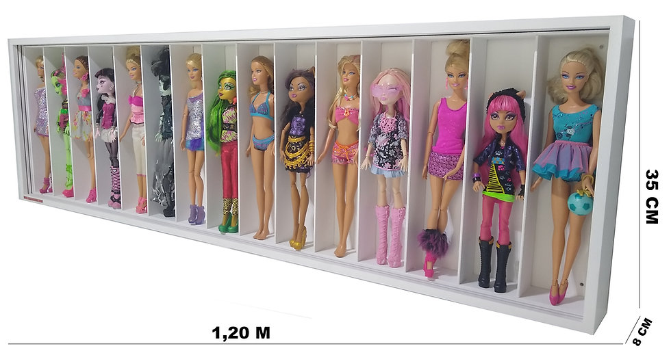 Estante Expositor 15 Barbie Ou Monster Righ - 1.20x35x8