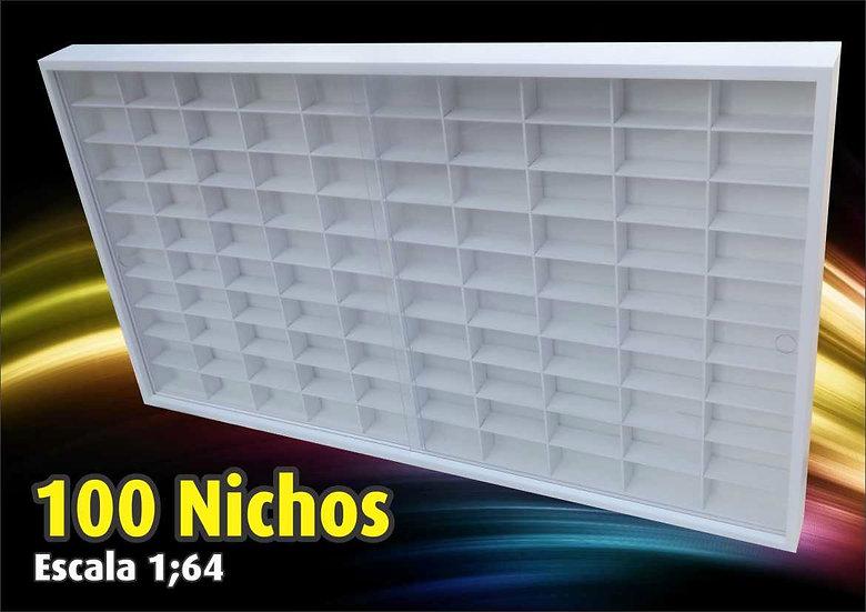 Estante ( 100 Nichos ) Hot Wheels - Decoração - Miniaturas