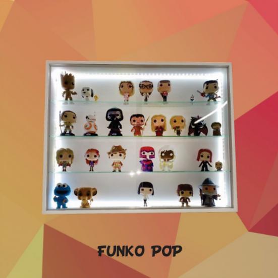 Funko Pop - Expositor Estante Figuras Bonecos Coleção - Led (cx 400)