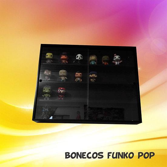 Funko Pop - Expositor Estante Figuras Bonecos - Coleção - Preta