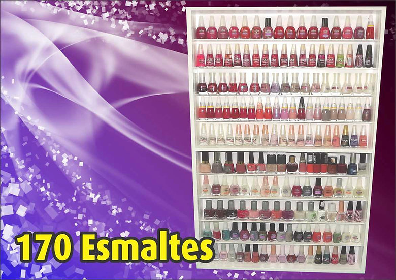 Estante p/ 170 Esmaltes - Vertical - Coleção - Manicure