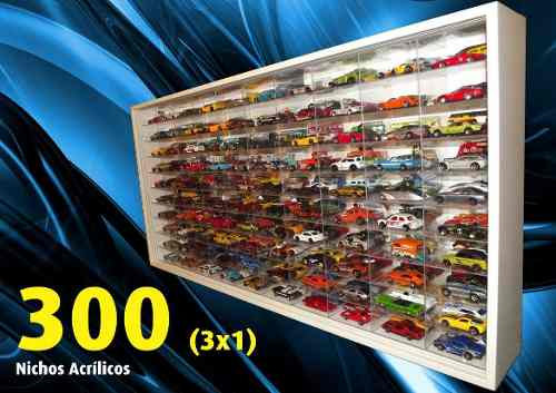 ((( 300 ))) Nichos 3x1 (( Nichos Acrílicos )) Hot Wheels