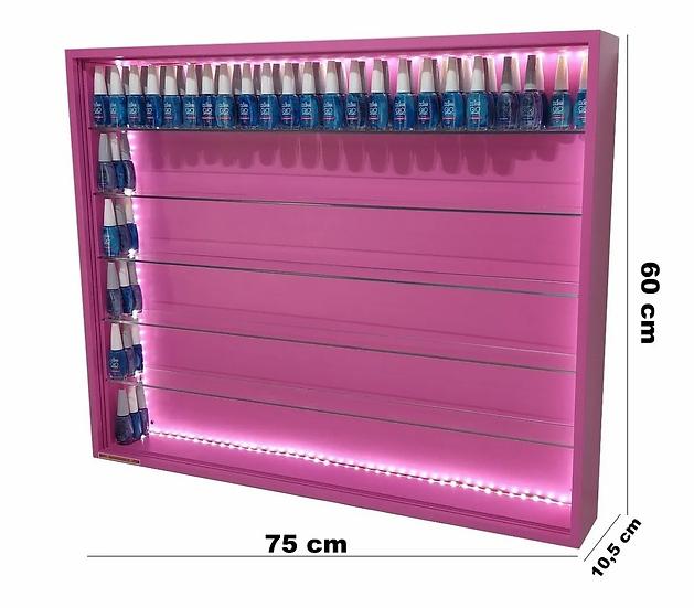Estante Expositor P/400 Esmalte Led Manicure Unhas Rosa