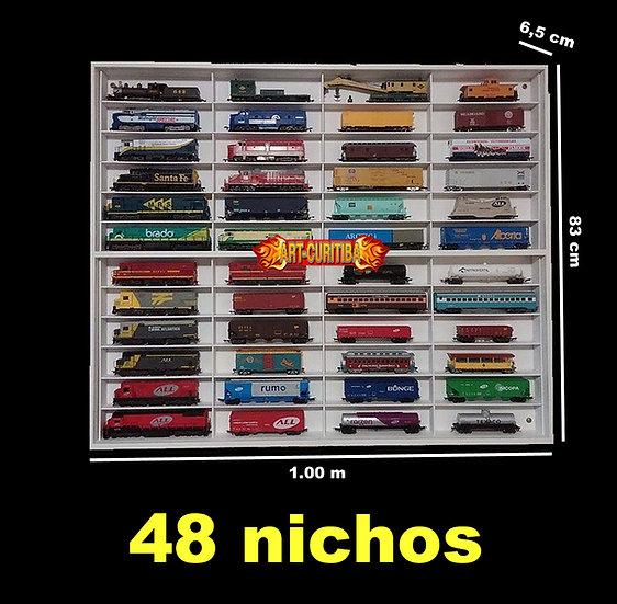 Estante Expositor Ferromodelismo 48 Trens Locomotivas Hot