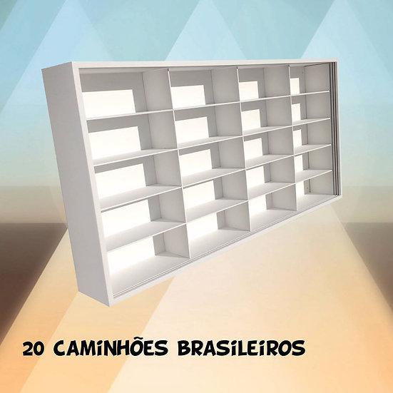 Estante Expositor 20 Caminhões Brasileiros -d Agostini -hot
